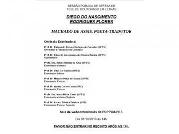 Divulgação Defesa de Doutorado - Diego Flores